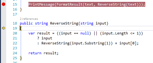 Visual Studio excerpt