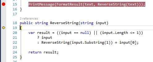 Visual Studio excerpt