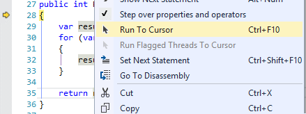 Run to Cursor